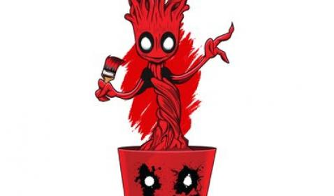 Kocak! James Gunn Unggah Foto Groot Jadi Deadpool