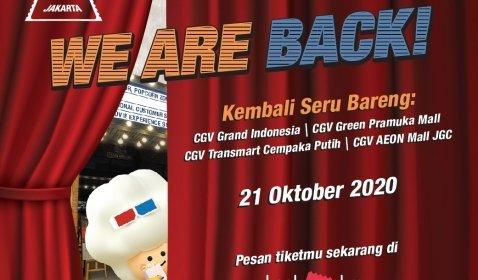 4 Bioskop CGV Cinemas di Jakarta Resmi Buka Kembali