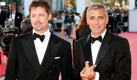 Brad Pitt dan George Clooney Bakal Reuni di Film Ini